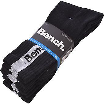 Bench Unisex Adults Niska 5 Pack Sports Logo Crew Socks - Black - 6-11 UK