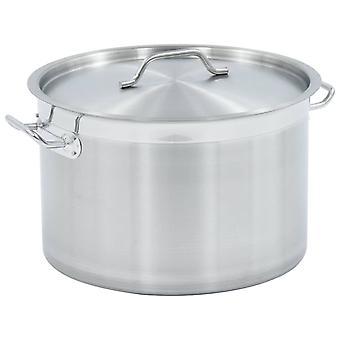 vidaXL soup pot 32 L 40×26 cm stainless steel