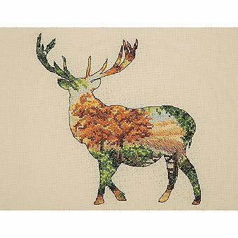 Anchor Counted Cross Stitch Kit: Maia Collection: Stag Silhouette