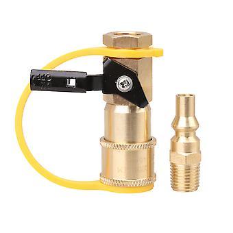 1/4Inch Mässing Propan Gas Grill Snabbkoppling Adapter för husbilsgrill