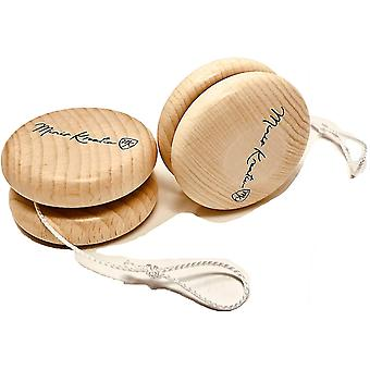 FengChun JoJo Holz Doppelpack fr Kinder Naturbelassen | Jonglier Set | 2 STK JoJo gro 6 cm |