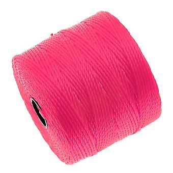 Super-Lon (S-Lon) Cord - Size #18 Twisted Nylon - Neon Pink (77 Yard Spool)