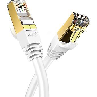 FengChun 1m Lan Kabel Cat8 Netzwerkkabel für 40 Gigabit Ethernet flexibel und robust mit vergoldetem