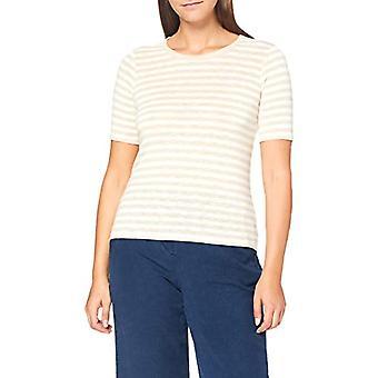 Tom Tailor Streifen Melange T-Shirt, 24764-Offwhite Kitt Football Shirt, XXXL Women