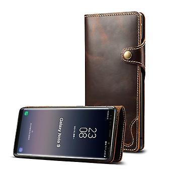 Slot per la custodia in pelle portafoglio per samsung s8 marrone no3207