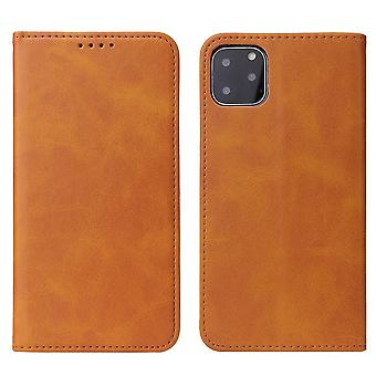 Flip folio leather case for samsung s10 plus khaki pns-1953