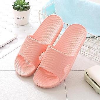 Men Footwear Stripe Flat Bath Soft Slippers