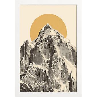 JUNIQE Print - Mountainscape 5 - Cartel de montañas en amarillo y gris