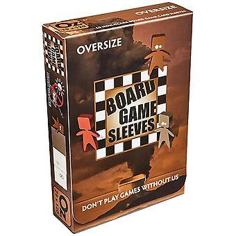 Manches de jeu de société non éblouissantes - Oversize (s'adapte aux cartes de 82x124mm) - 50 Manches
