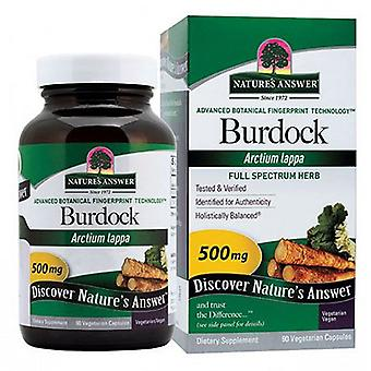 Naturens svar Burdock Root, 90 Cap