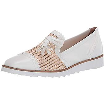 French Sole FS/NY Women's Woven Smoking Slipper Loafer Flat