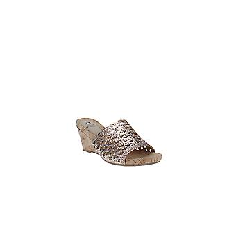White Mountain   Amal Embellished Wedge Sandals