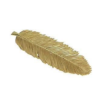 Gold Finish Resin Leaf Decorative Plate Ring Tray Home Organizer Decor Key Bowl