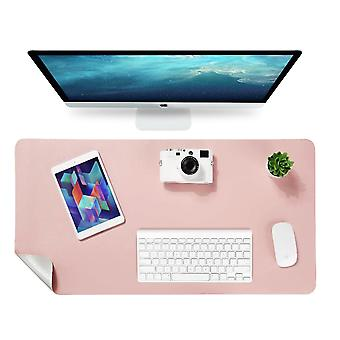 Double-sided Table Mat, Desk Mat, Mouse Pad 90 X 43cm (pink / Silver)