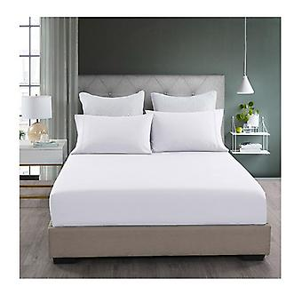 White Fitted Sheet and Pillowcase Set