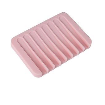 Soporte de almacenamiento de jabón de silicona para platos Accesorios de baño flexibles