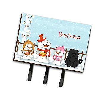 Caroline'S Treasures Merry Christmas Carolers Chow Black Leash Or Key Holder Bb2474Th68, Triple, Multicolor