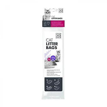 Saci de gunoi parfumați cu lavandă mpets - 30x50 Cm - Pentru pisică - 10buc