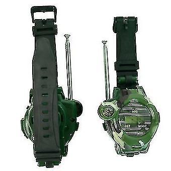 Tarnung militärische Uhr drahtlose Walkie-Talkie 7 in1 Outdoor-Kinder's Walkie-Talkie Spielzeug 2pcs