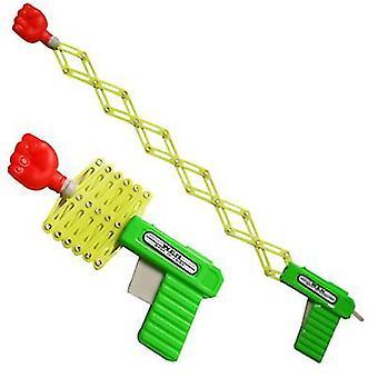 Teleskopisk fist gun fjäder elastisk pistol barn & s leksak magiska leksakspistol 3st
