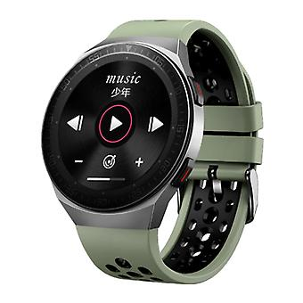 PrettyLittle MT-3 Smartwatch with Speaker and Heart Rate Monitor - Fitness Sport Activity Tracker Silica Gel Strap Watch iOS Android Green