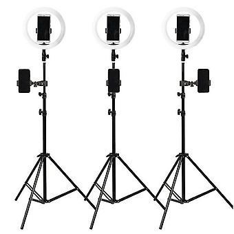 10'' LED Ring Light with Tripod Stand 1.6M & Phone Holder for Live Streaming