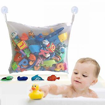 Organizzatore di toy da bagno, borsa in rete giocattolo white tub (circa 34*45 cm)