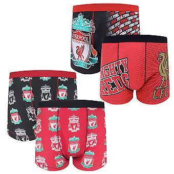 ليفربول FC رجال بوكسر شورتس كريست 2 زوج Pk هدية كرة القدم الرسمية