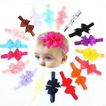 10pcs / الكثير تصميم جديد الاطفال الشريط القوس ربطة الرأس