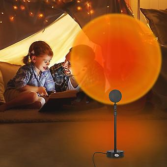180 Degree Rotation Rainbow Projection Lamp For Home Party Living Room Bedroom