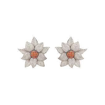 Daisy Flower Ohrring Silber