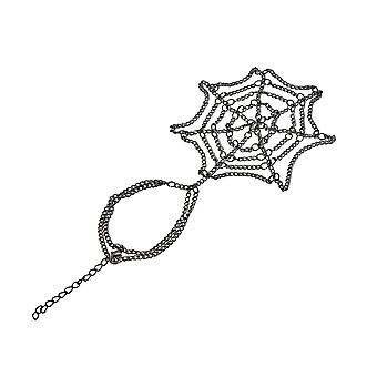 Palladium Spider Web Design Hand Schakelarmband