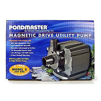 Pondmaster Pond-Mag Magnetic Drive Utility Pond Pump - Model 5 (500 GPH)