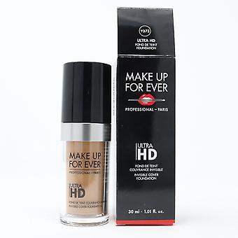 Make up för Ever Ultra Hd Invisible Cover Foundation 1.01oz /30ml Ny med box