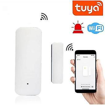 Smart Life Wifi Tür fenster Sensor Alarmmelder mit alexa google home tuya android ios app smart
