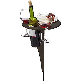 Tragbarer Weintisch im Freien