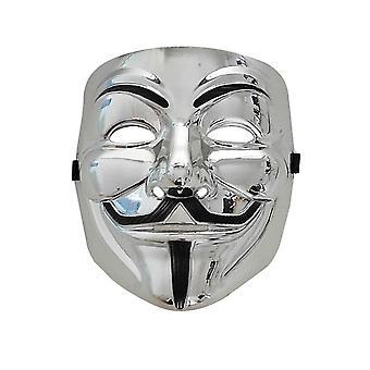 Hakkereiden naamio valkoinen V Vendetta Halloween Face Mask ei voi toimittaa ennen Halloweenia