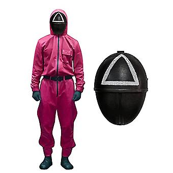 Squid Game Costume For Man Women Unisex With Belt, Halloween Christmas Cosplay Costumes (without Ma-sks And Gloves)