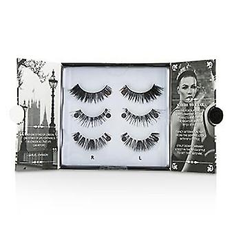 The London Edit False Lashes Multipack - # 121 # 117 # 154 (adhesive Included) - 3pairs