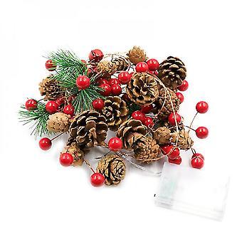 Yesfit Led Decorazione natalizia Luce Pigna Pino Ago Decorazione Luce Stringa