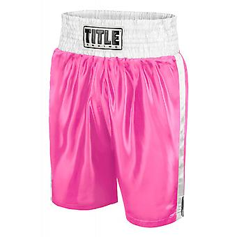 Title Professional Boxing Trunks - Medium - Pink/White