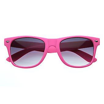 New Matte Rubberized Neon Color Soft Finish Neon Horn Rimmed Sunglasses