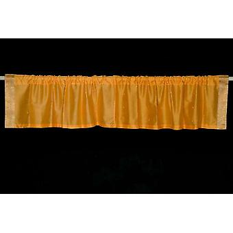 Mustard - Rod Pocket Top It Off handmade Sari Valance - Pair
