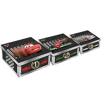 Disney Cars Set von 3 Boxen Kartons