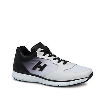 Hogan Sneakers aus weißem Leder mit schwarzen Abstufung