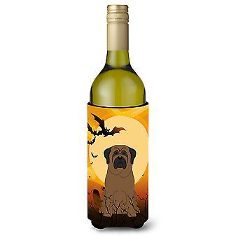 Halloween Bullmastiff Wine Bottle Beverge Insulator Hugger