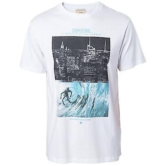 Rip Curl gDay bday Tee korte mouw T-shirt in wit/blauw
