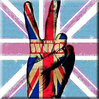 The Who Fridge Magnet Peace Fingers band logo new Official 76mm x 76mm
