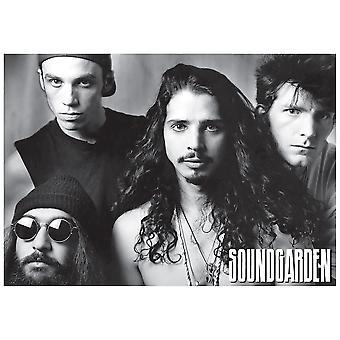 Soundgarden BW Group Chris Cornell Poster Print