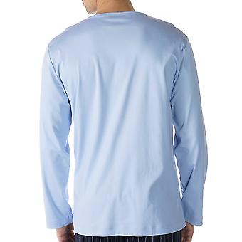 Mey 20440-188 męskie salon błękitne niebo jednolity kolor piżamy piżamy Top